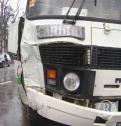 В Архангельске рейсовый автобус налетел на «КАМАЗ»: пострадавших нет