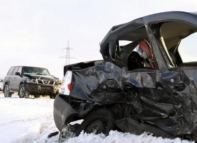 В Архангельске столкнулись три автомобиля