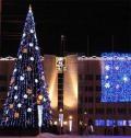 Главная новогодняя елка Архангельска установлена перед зданием мэрии