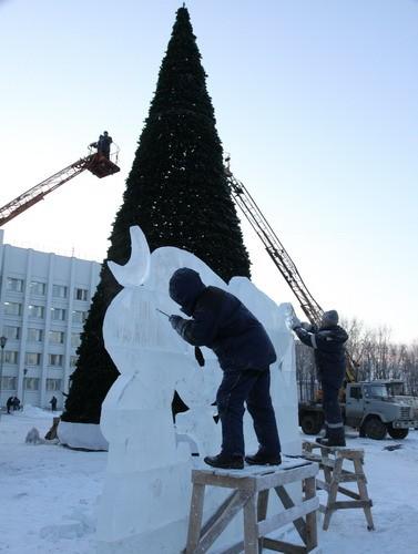Во время фестиваля «Рождественский Благовест» в Архангельске состоится конкурс ледовых скульптур