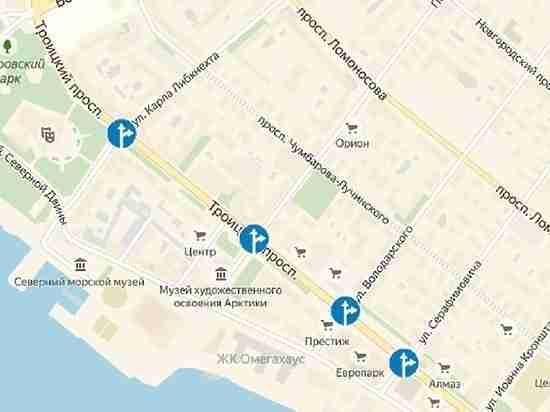 На главном проспекте Архангельска будет запрещён поворот налево