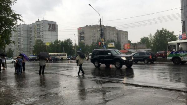 В ночь на 26 июня синоптики обещают в Архангельской области грозы и ливни